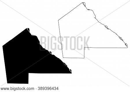 Pike County, Missouri (u.s. County, United States Of America, Usa, U.s., Us) Map Vector Illustration