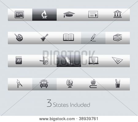 School & Education // Classic Series +++ It includes 3 buttons states in different layers. +++