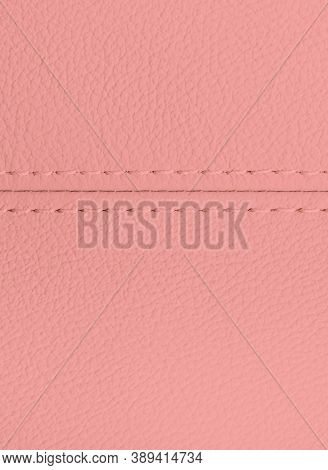 Leather Texture Background For Design, Light Pink Illustration. Texture, Color, Artificial Leather W