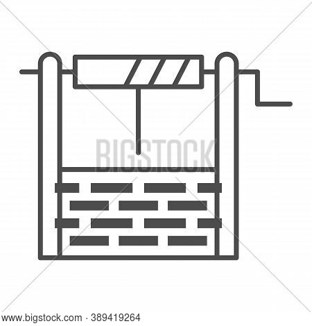 Water Well Thin Line Icon, Garden And Gardening Concept, Draw-well Sign On White Background, Well Ic