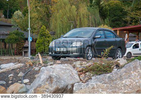 Kozlu / Zonguldak 1 October 2020 Car Parked On Land