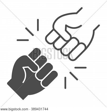 Struggle Between Whites And Blacks Thin Line Icon, Black Lives Matter Concept, Blm Racial Fight Sign