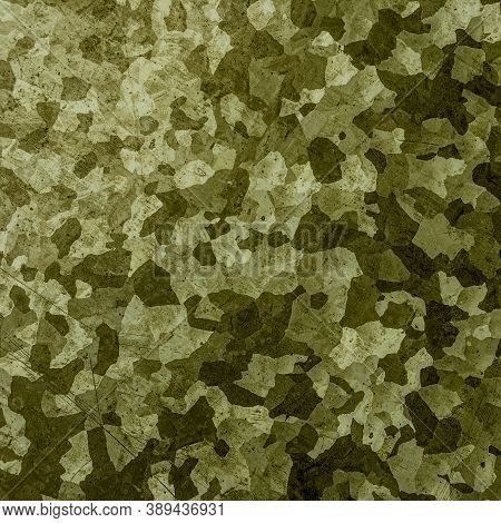 Khaki Texture Background. Watercolour Camo Illustration. Green War Fabric. Abstract Commando Design.