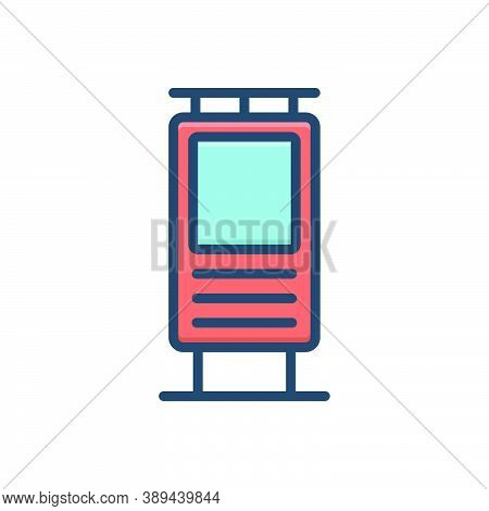 Color Illustration Icon For Placement-for-ads Billboard Banners Advertisement Templates Signpost Pla