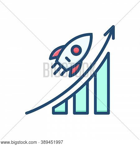 Color Illustration Icon For Career-advancement Career Advancement Promotion Analysis Successful Oppo
