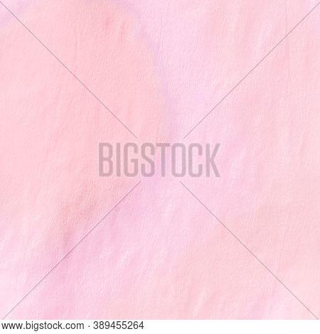 Ikat Chevron. Pink Pastel Tie Dye Batik Style. Abstract Paint Aquarel Spots. Grunge Craft Paper. Ika
