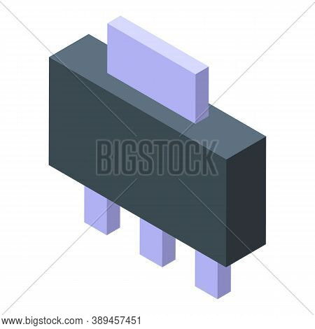 Voltage Regulator Processor Icon. Isometric Of Voltage Regulator Processor Vector Icon For Web Desig