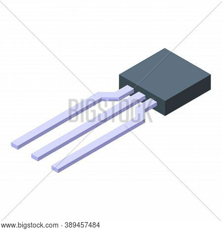 Electronic Component Icon. Isometric Of Electronic Component Vector Icon For Web Design Isolated On