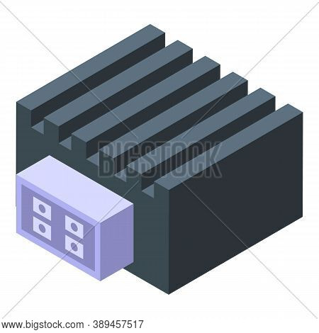 Electronic Component Regulator Icon. Isometric Of Electronic Component Regulator Vector Icon For Web