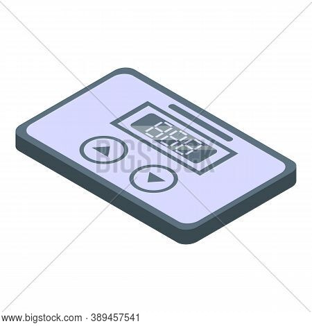 Digital Voltage Regulator Icon. Isometric Of Digital Voltage Regulator Vector Icon For Web Design Is
