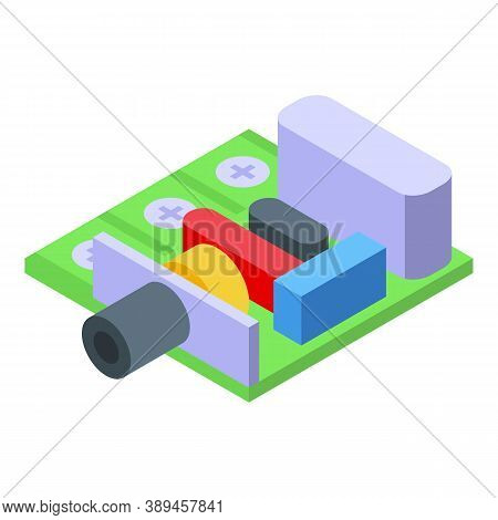 Voltage Regulator Circuit Power Icon. Isometric Of Voltage Regulator Circuit Power Vector Icon For W