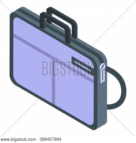 Case Laptop Icon. Isometric Of Case Laptop Vector Icon For Web Design Isolated On White Background