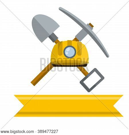 Pick And Shovel. Miner And Digger Tool.