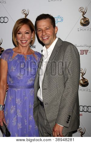 LOS ANGELES - SEP 21:  Lisa Joyner, Jon Cryer arrives at the Primetime Emmys Performers Nominee Reception at Spectra by Wolfgang Puck on September 21, 2012 in Los Angeles, CA