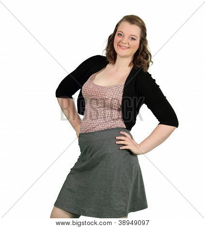 A Confident Young Lady Smiles About Her Success