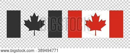 Flag Of Canada. National Flag Of Canada. Concept Flag Of Canada. Vector Illustration