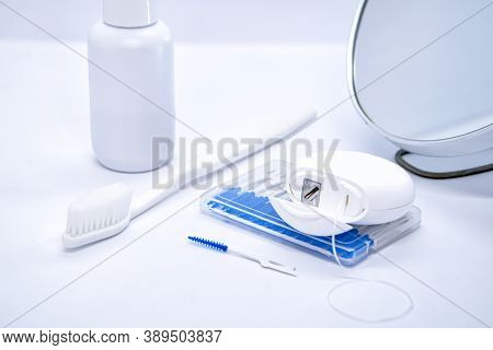 Oral Care: Toothbrush, Dental Floss, Brush For Cleaning Interdental Spaces, Mouthwash And Cosmetic M