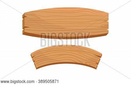 Wooden Sign Or Billboard As Rustic Destination Pointing Or Door Plaque Vector Set