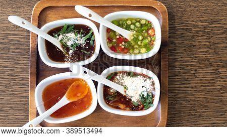 Thai Sauces And Condiments. Popular Thai Sauces. Thai Food