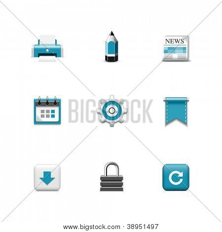 Internet icons. Azzurro