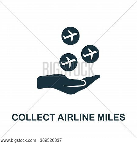 Collect Airline Miles Icon. Simple Element From Loyalty Program Collection. Filled Collect Airline M