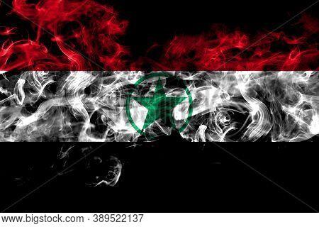 Arabistan, Democratic Revolutionary Front For The Liberation Of Arabistan Smoke Flag Isolated On Bla