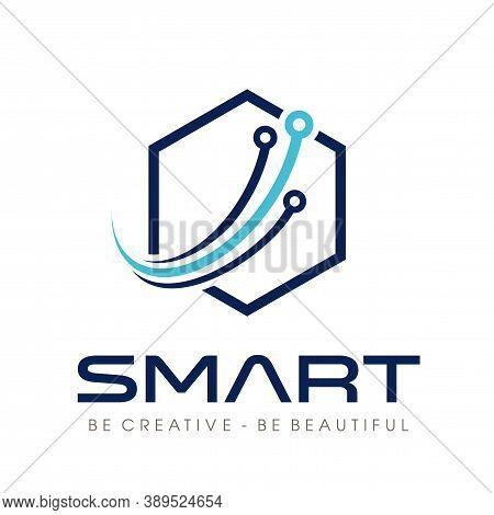 Tech Logo, Smart Tech Logo Design Vector