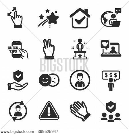 Set Of People Icons, Such As Employee Benefits, Clapping Hands, Success Symbols. Education, People I