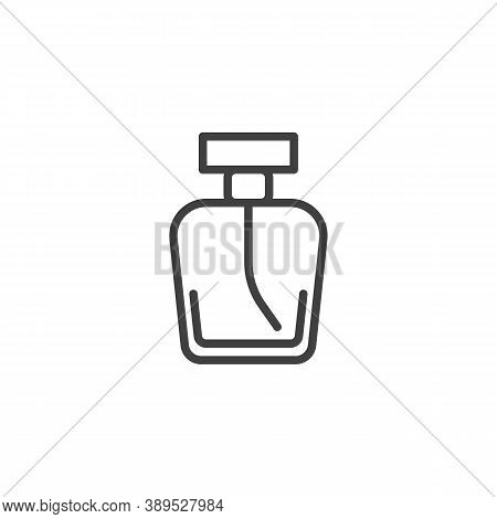 Perfume Bottle Line Icon. Linear Style Sign For Mobile Concept And Web Design. Fragrance Perfume Out
