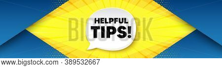 Helpful Tips Symbol. Background With Offer Speech Bubble. Education Faq Sign. Help Assistance. Best