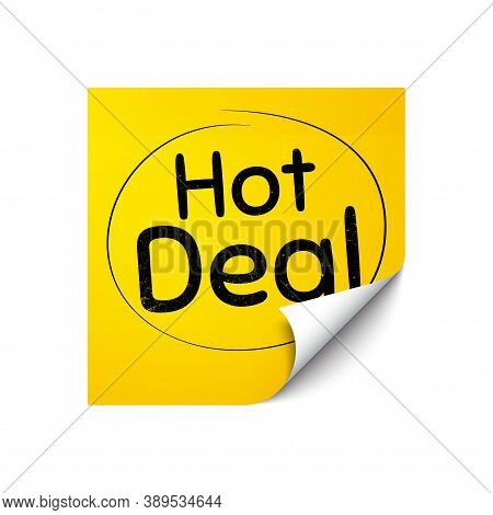Hot Deal. Sticker Note With Offer Message. Special Offer Price Sign. Advertising Discounts Symbol. Y
