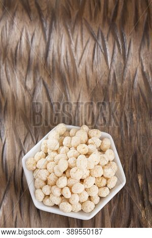 Organic Popping Quinoa - Chenopodium Quinoa. Text Space