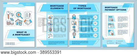 Mortgage Definition Brochure Template. Elements And Payment Options. Flyer, Booklet, Leaflet Print,