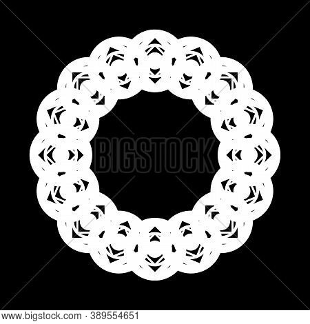 Design Monochrome Decorative Element. Abstract Circle Backdrop. Vector-art Illustration