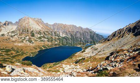 Five Polish Ponds Valley (dolina Pieciu Stawow Polskich) High Resolution Panorama, Autumn. Crystal B