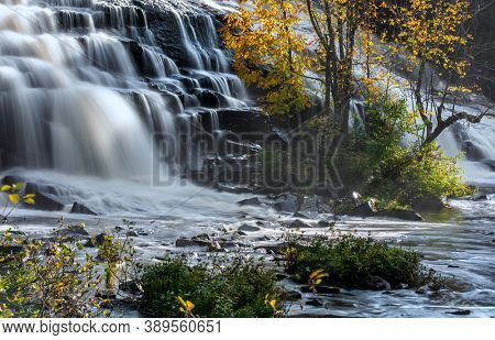 Scenic Bond falls near Paulding in Michigan Upper peninsula