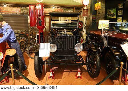 Istanbul, Turkey - September 20, 2020: 1918 Ford Model T Display In Rahmi M. Koc Industrial Museum.