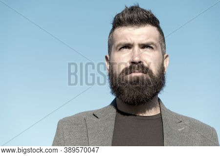 Barber Tips Maintain Beard. Hipster Appearance. Beard Fashion And Barber Concept. Man Bearded Hipste