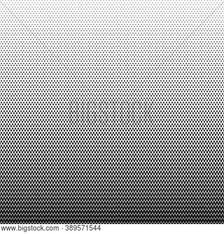 Geometric halftone background. Diamonds pattern. Abstract black and white texture.