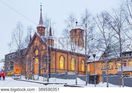 Tromso Catholic Church in center of  Tromso,  Norway