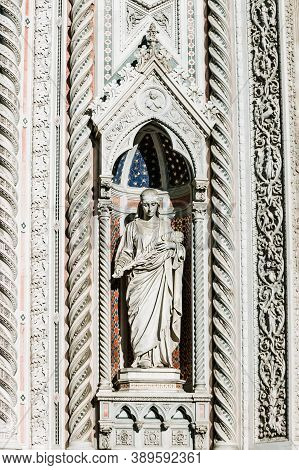 Cathedral Santa Maria Del Fiore, Florence, Italy. Cathedral Of Saint Mary Of The Flower. Details, Fr