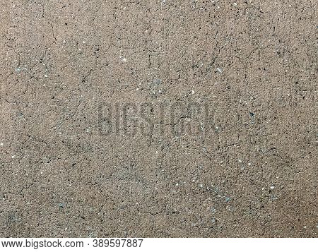 Old Concrete Flooring With Lots Of Tiny Cracks, Grungy Looking Texture Floor. Great Concrete Backgro