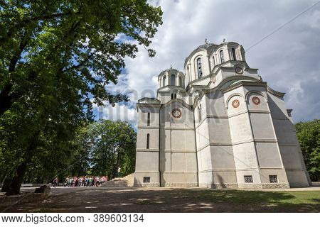 Topola, Serbia - May 27, 2017: Oplenac Mausoleum In Topola. Also Called Saint George Church, It Host