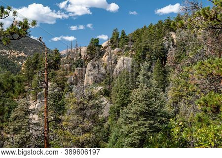 Mountain Scenery On The Barr Trail, Leading Up To Pikes Peak In Colorado