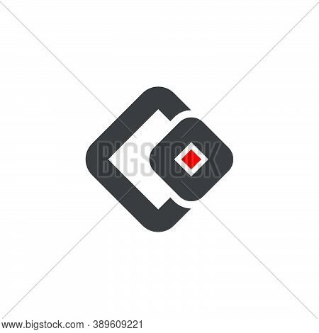 Letter Co Simple Geometric Square Abstract Logo Vector