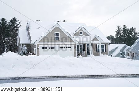 The Winter House In The Snow Storm