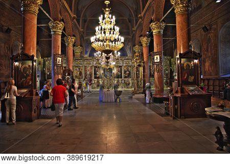 Plovdiv, Bulgaria - 12 Jul 2015: Church Of The Holy Mother Of God, Plovdiv