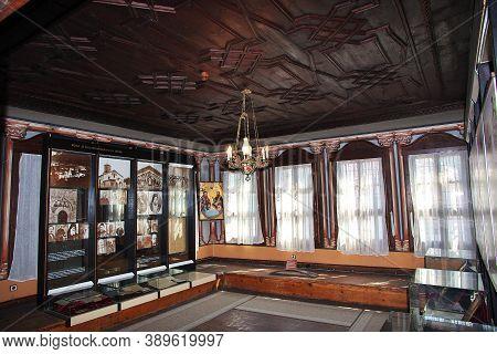 Plovdiv, Bulgaria - 12 Jul 2015: Plovdiv Regional Historical Museum, Bulgarian National Revival Expo