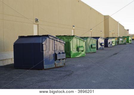 Garbage Bin Row