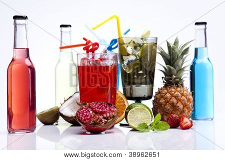 Fresh drink with fruits